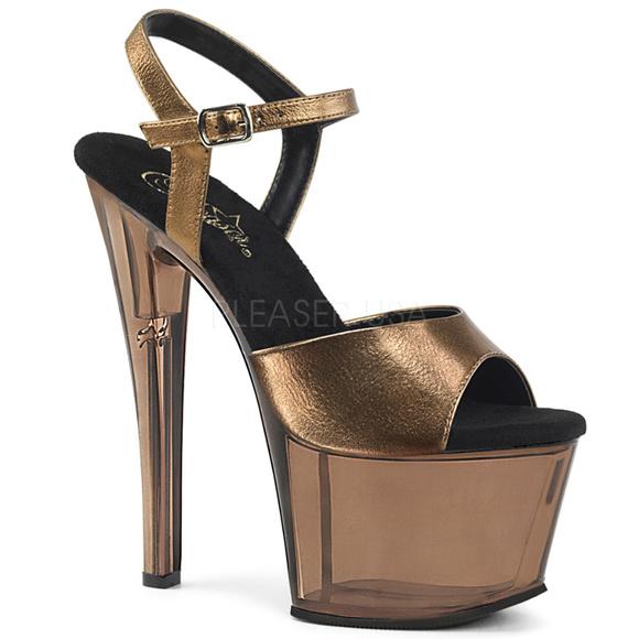 161e43a73d5 7 Inch High Heel Platform Stiletto Shoes Bronze NWT